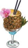 Cocktail dell'ananas Fotografie Stock Libere da Diritti