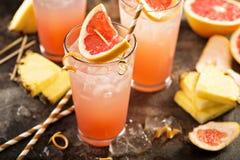Cocktail dell'ananas e del pompelmo immagini stock libere da diritti
