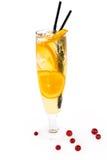 Cocktail dell'arancia della frutta Immagini Stock Libere da Diritti