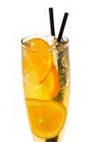 Cocktail dell'arancia della frutta Fotografie Stock