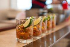 Cocktail dell'insalata con frutti di mare Fotografie Stock Libere da Diritti