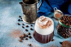 Cocktail dell'irish coffee fotografia stock libera da diritti