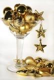 Cocktail dell'ornamento di nuovo anno Fotografie Stock Libere da Diritti