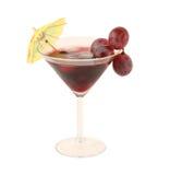 Cocktail dell'uva isolato su priorità bassa bianca Immagine Stock