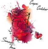 Cocktail della barra di estate con le bacche royalty illustrazione gratis