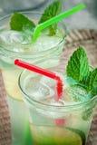 Cocktail della bevanda della calce di Mojito fotografia stock