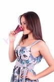 Cocktail della bevanda della signora fotografia stock libera da diritti