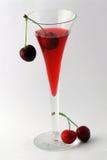Cocktail della ciliegia Fotografie Stock Libere da Diritti