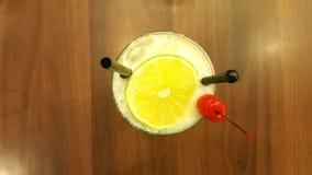 Cocktail della ciliegia e del limone Fotografia Stock