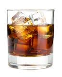 Cocktail della cola del whiskey Fotografie Stock