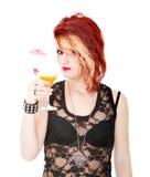Cocktail della donna immagini stock libere da diritti