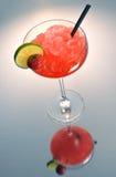 Cocktail della margarita della fragola Fotografia Stock Libera da Diritti