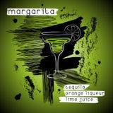 Cocktail della margarita nello stile di lerciume Fotografia Stock
