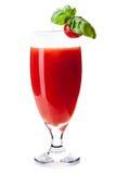 Cocktail della Mary sanguinante su priorità bassa bianca Fotografia Stock Libera da Diritti