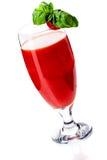Cocktail della Mary sanguinante su priorità bassa bianca Fotografia Stock