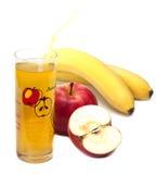 Cocktail della mela e della banana. Immagine Stock