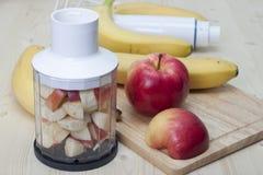 Cocktail della mela e della banana. Fotografia Stock