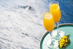 Cocktail della mimosa Fotografia Stock