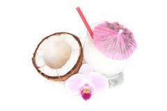Cocktail della noce di cocco Fotografia Stock Libera da Diritti