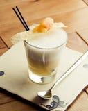 Cocktail della pera con vaniglia Fotografia Stock Libera da Diritti