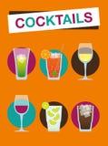 Cocktail della spiaggia - vacanza estiva illustrazione di stock