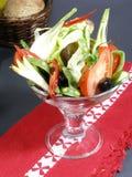 Cocktail delle verdure con pane fotografia stock