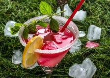 Cocktail der roten Farbe Stockfotografie