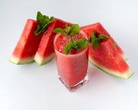 Cocktail der Wassermelone Stockfotos