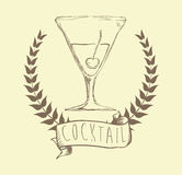 Cocktail design Royalty Free Stock Photo