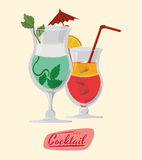 Cocktail design Stock Photography
