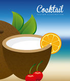 Cocktail design Stock Images