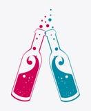 Cocktail design. Cocktail design over white background,  illustration Royalty Free Stock Image