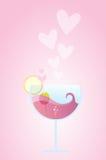 Cocktail di amore Fotografia Stock Libera da Diritti