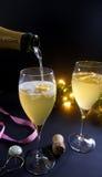 Cocktail di Champagne Fotografie Stock Libere da Diritti