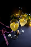 Cocktail di Champagne Fotografia Stock