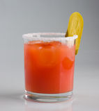 Cocktail di freddo del succo di pomodoro Fotografia Stock Libera da Diritti