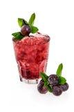 Cocktail di frutta con l'uva Fotografia Stock Libera da Diritti