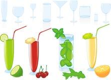 Cocktail di frutta di colore Fotografia Stock