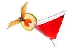 Cocktail di frutta rosso Fotografia Stock