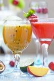 Cocktail di frutto della passione Fotografie Stock Libere da Diritti