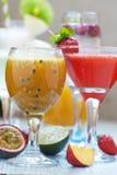 Cocktail di frutto della passione Immagini Stock Libere da Diritti