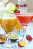 Cocktail di frutto della passione Fotografie Stock