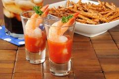 Cocktail di gamberetto immagine stock