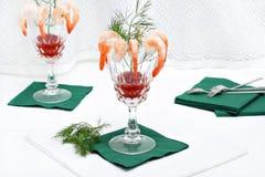 Cocktail di gambero fotografia stock libera da diritti