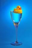 Cocktail di gomma dell'anatra Fotografie Stock Libere da Diritti
