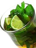 Cocktail di inverno - Mojito caldo immagine stock