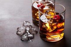 Cocktail di Manhattan Fotografia Stock