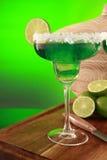 Cocktail di Margarita su verde Immagine Stock Libera da Diritti