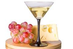 Cocktail di Martini con l'uva ed il formaggio Immagine Stock Libera da Diritti