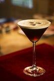 Cocktail di martini del caffè di espresso del caffè espresso Fotografie Stock Libere da Diritti